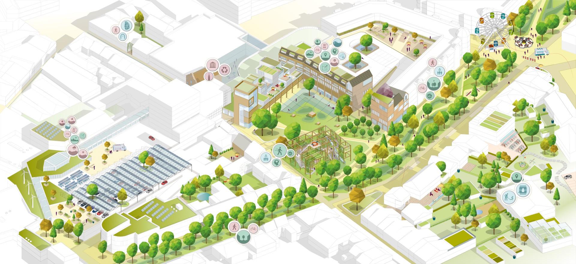 uitwerking van het gebied rondom het Collegeplein, het Muntcomplex en de Wilhelminasingel