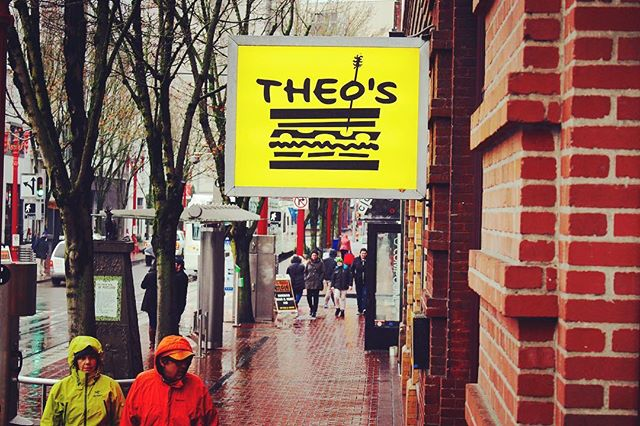 Theo's restaurant! Come visit us! Located on 5th Ave between Couch st. and Davis st. #digin #pdx