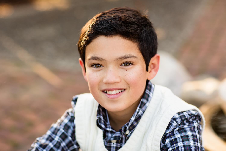 outdoor portrait of boy