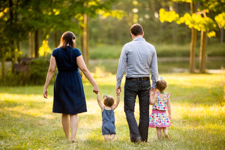 family portrait in trees