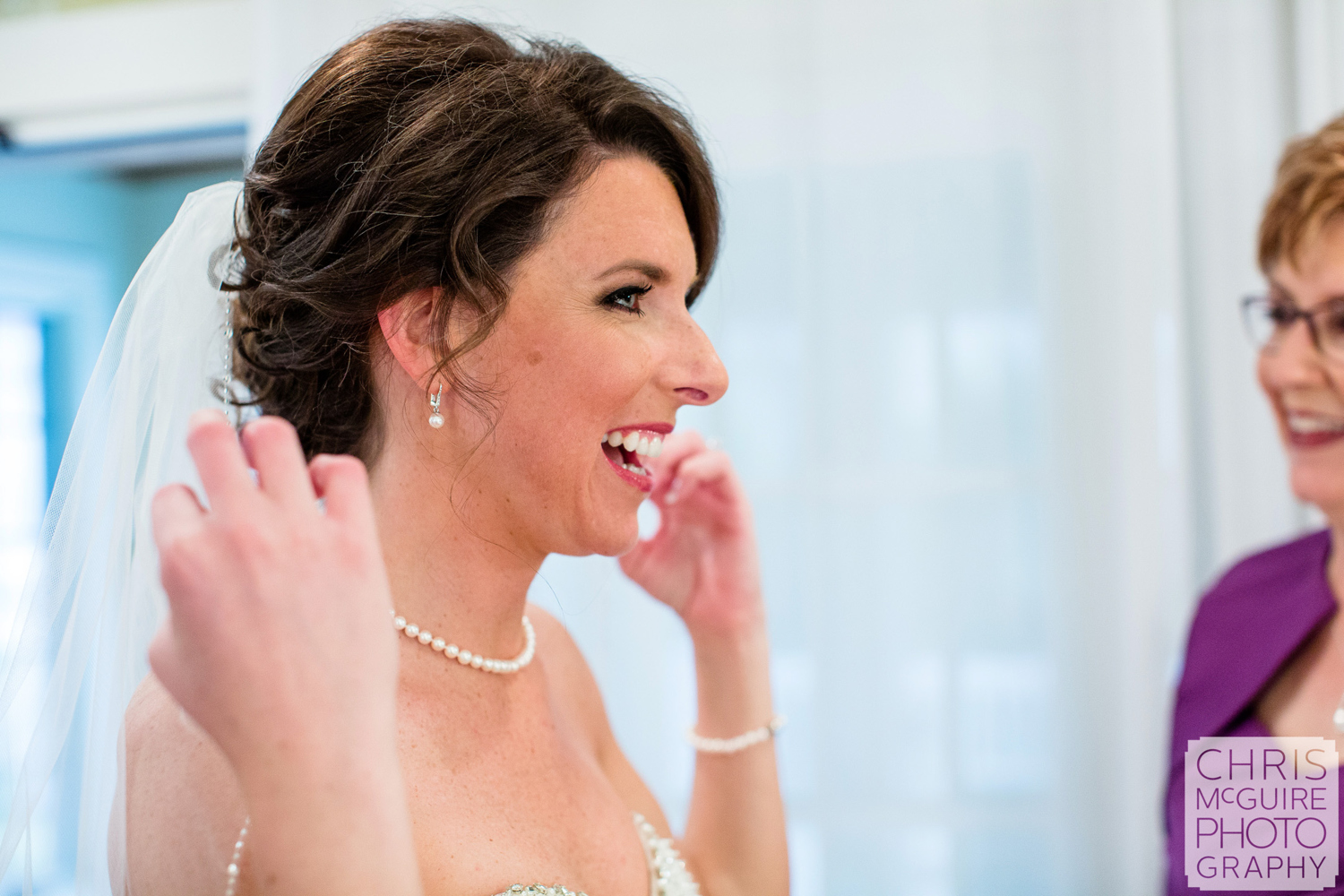 bride sees veil for first time