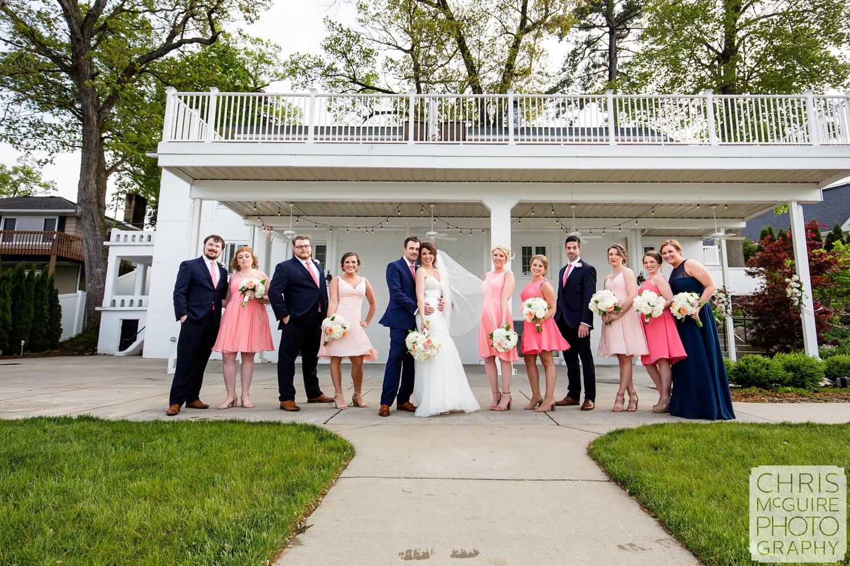 bridal party group portrait