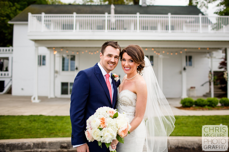 bride groom at bay pointe inn
