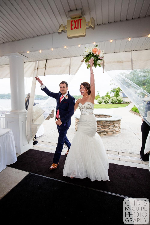 bride groom grand entrance at reception