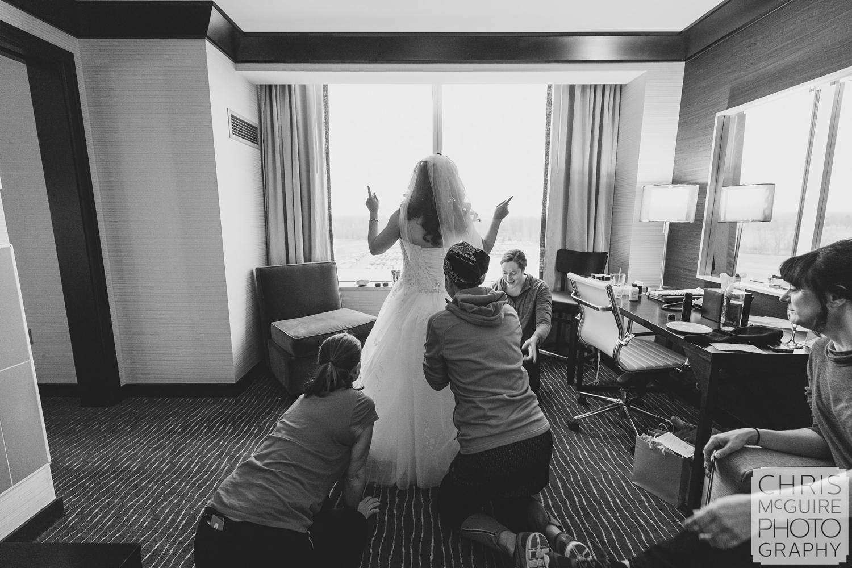 bride getting ready central illinois