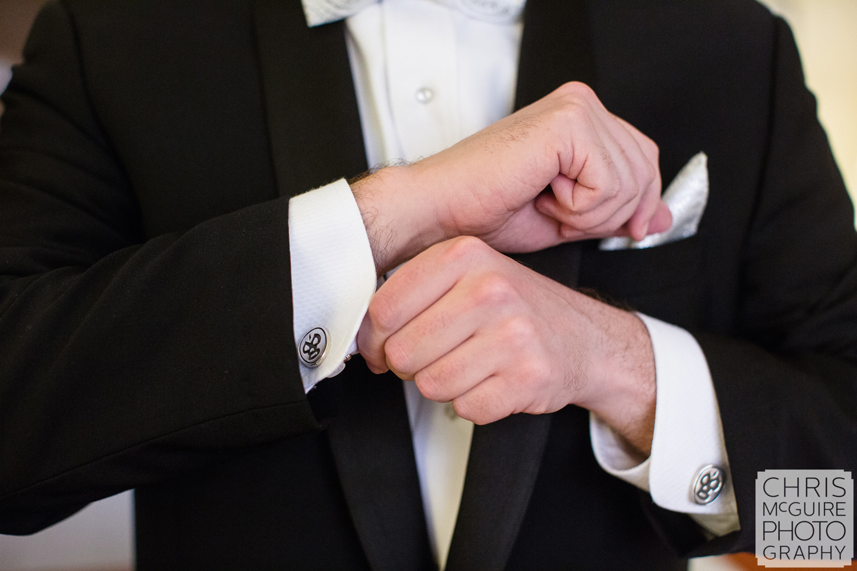 groom luchador cufflinks
