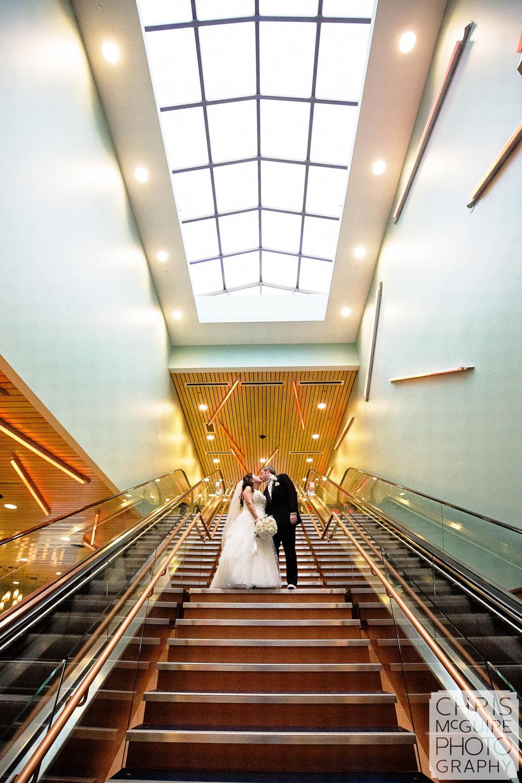 bride groom in casino