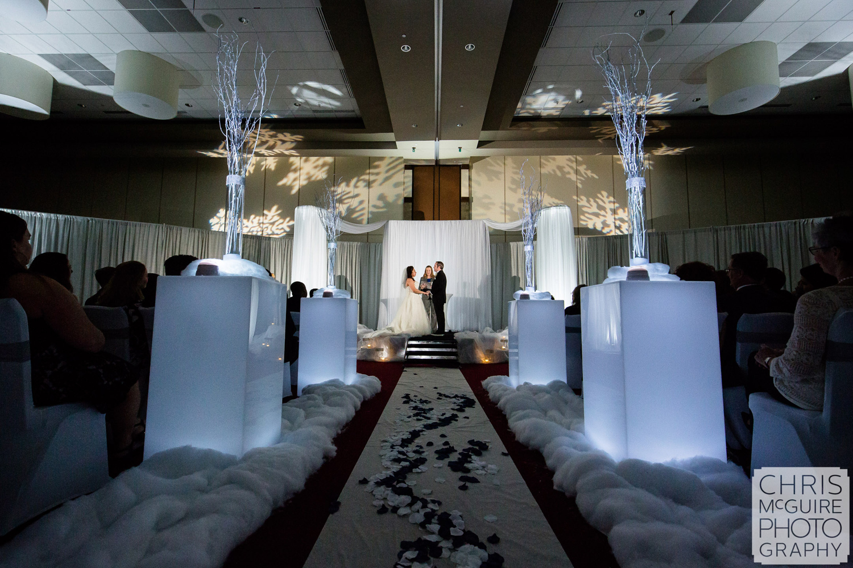 firekeepers casino winter wonderland wedding