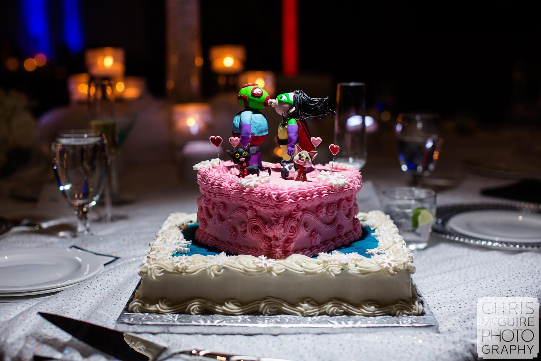 wedding cake luchador topper