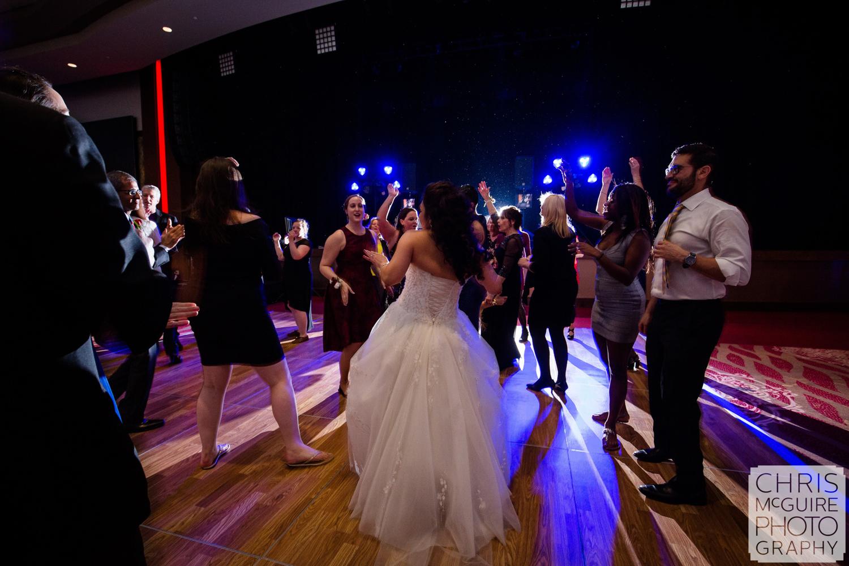 bride dancing in ballroom reception