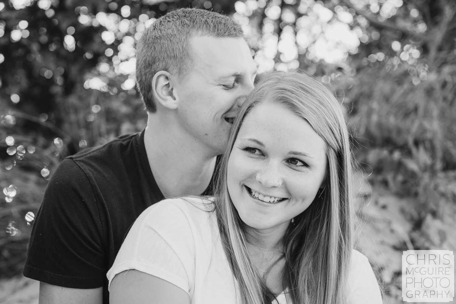 couple laughing engaged
