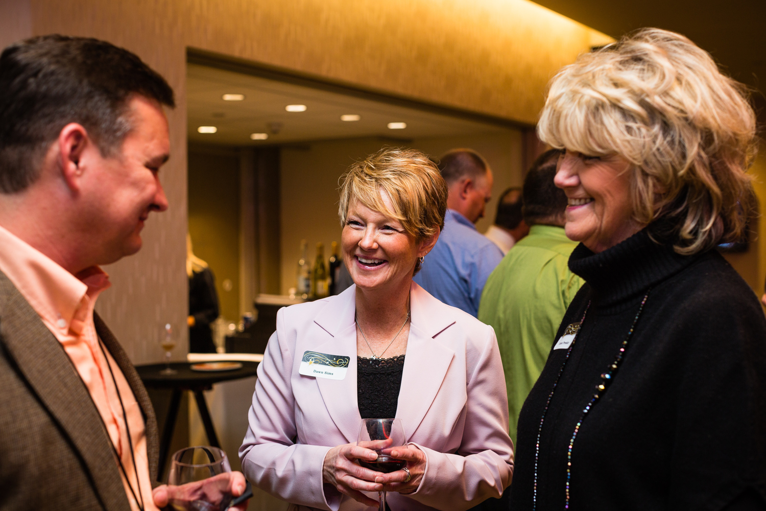 business networking event candid