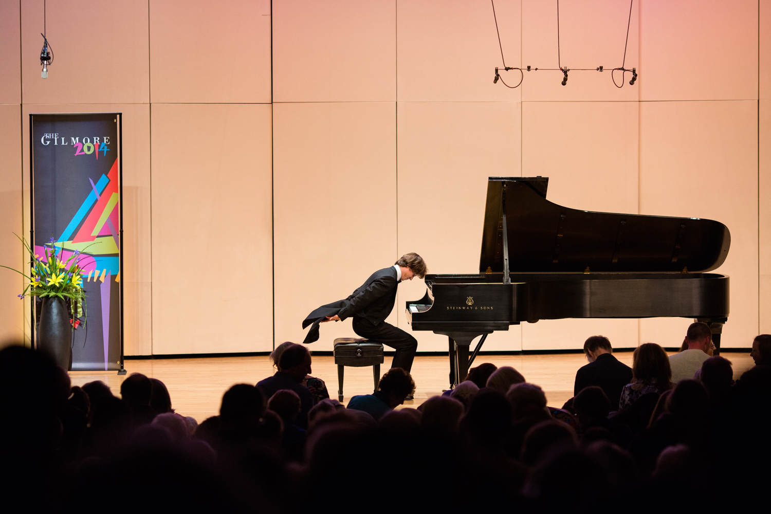 pianist at live concert