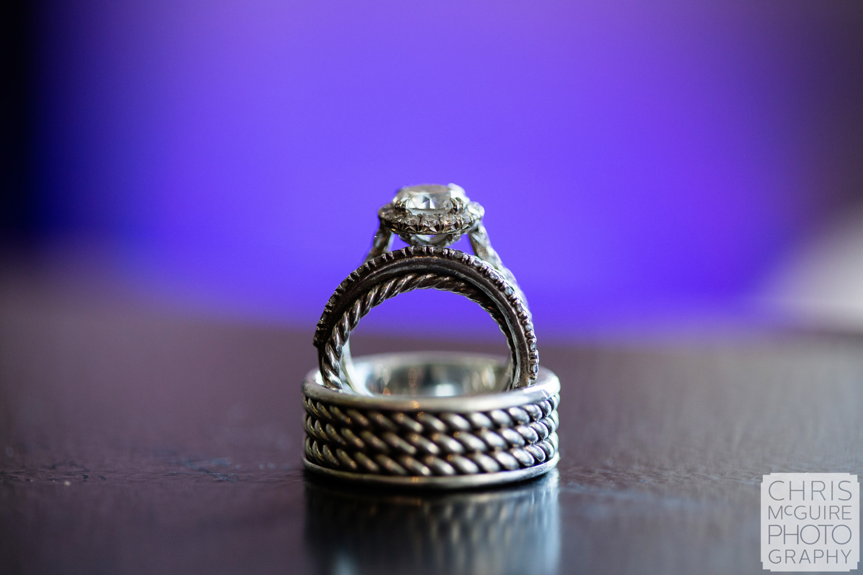 wedding rings purple
