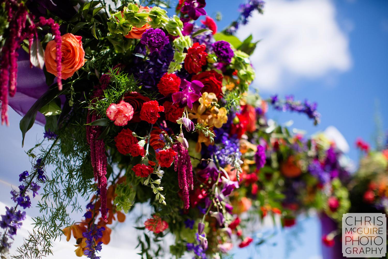 outdoor wedding ceremony flowers