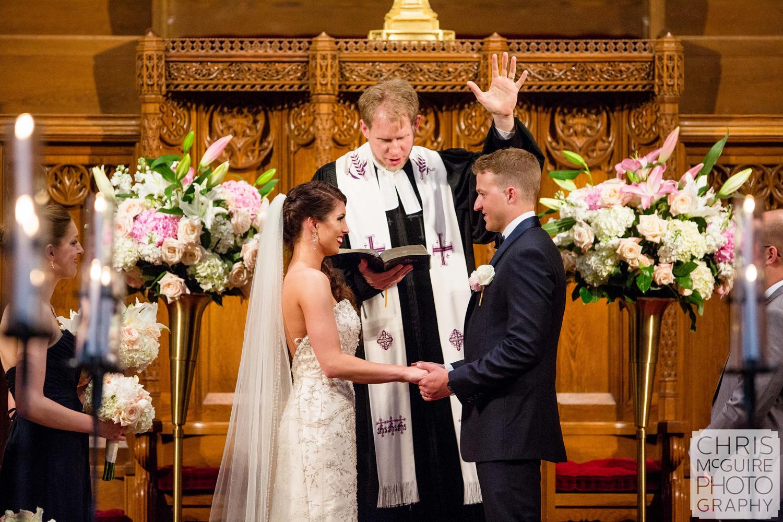 bride groom priest church wedding ceremony