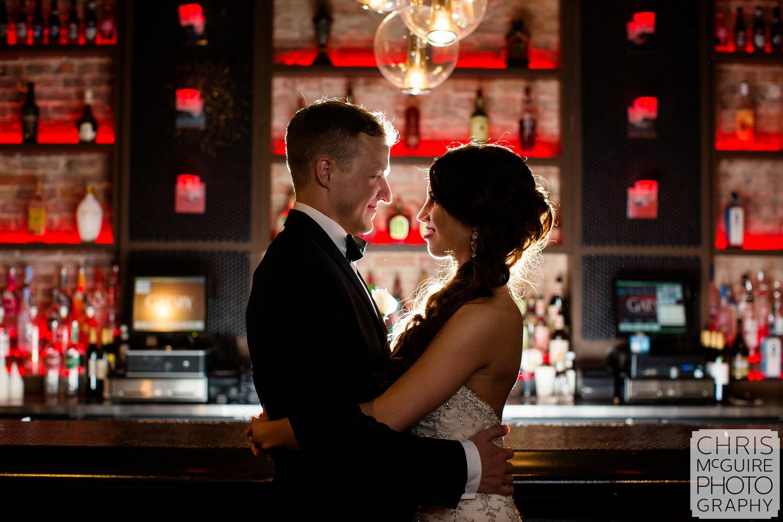 bride groom portrait gatsby bar