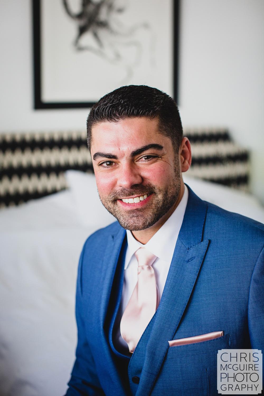 groom portrait blue suit