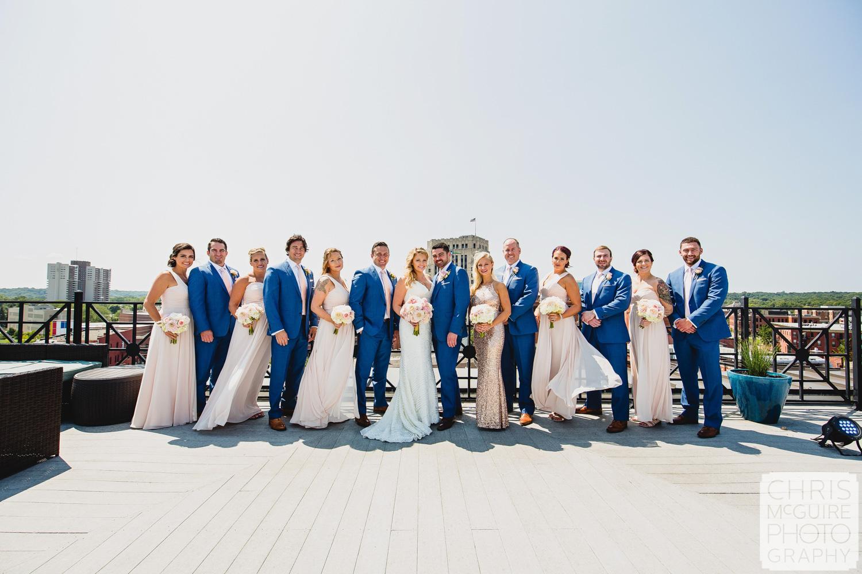 wedding party pink blue peoria