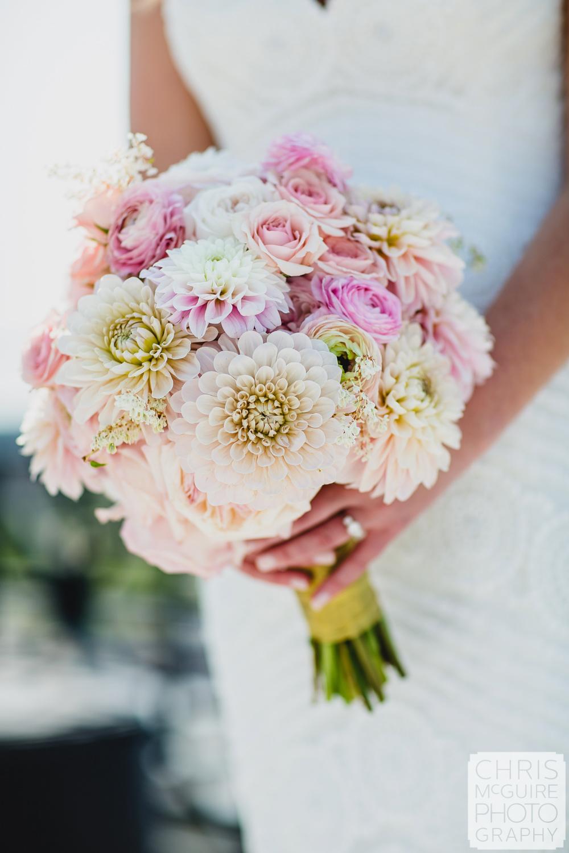 peoria wedding bouquet pink