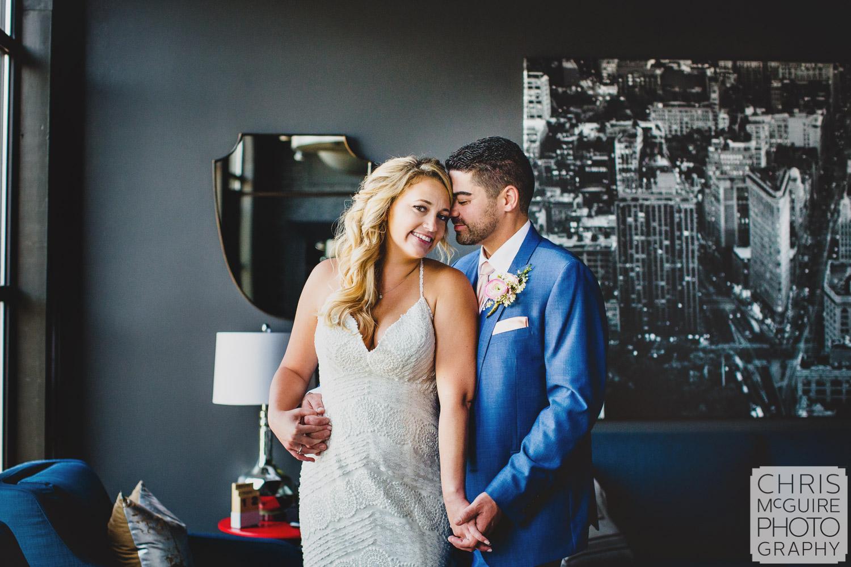 bride groom romantic portrait