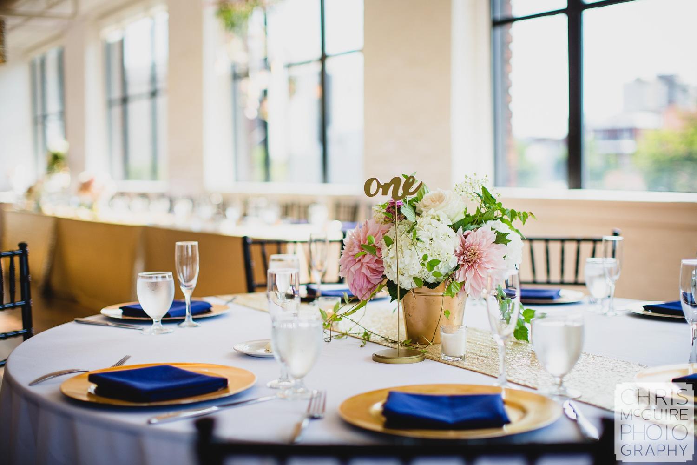 wedding reception floral centerpiece