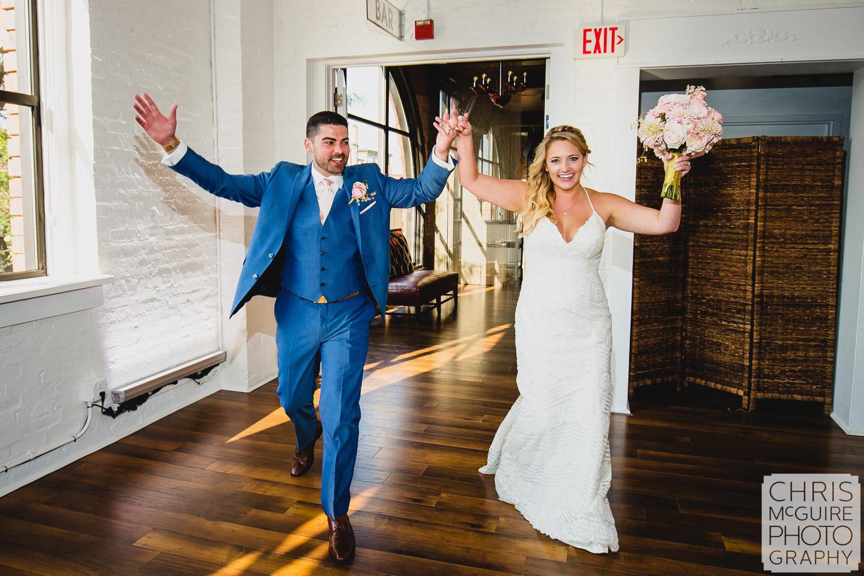 bride groom introduction at wedding reception