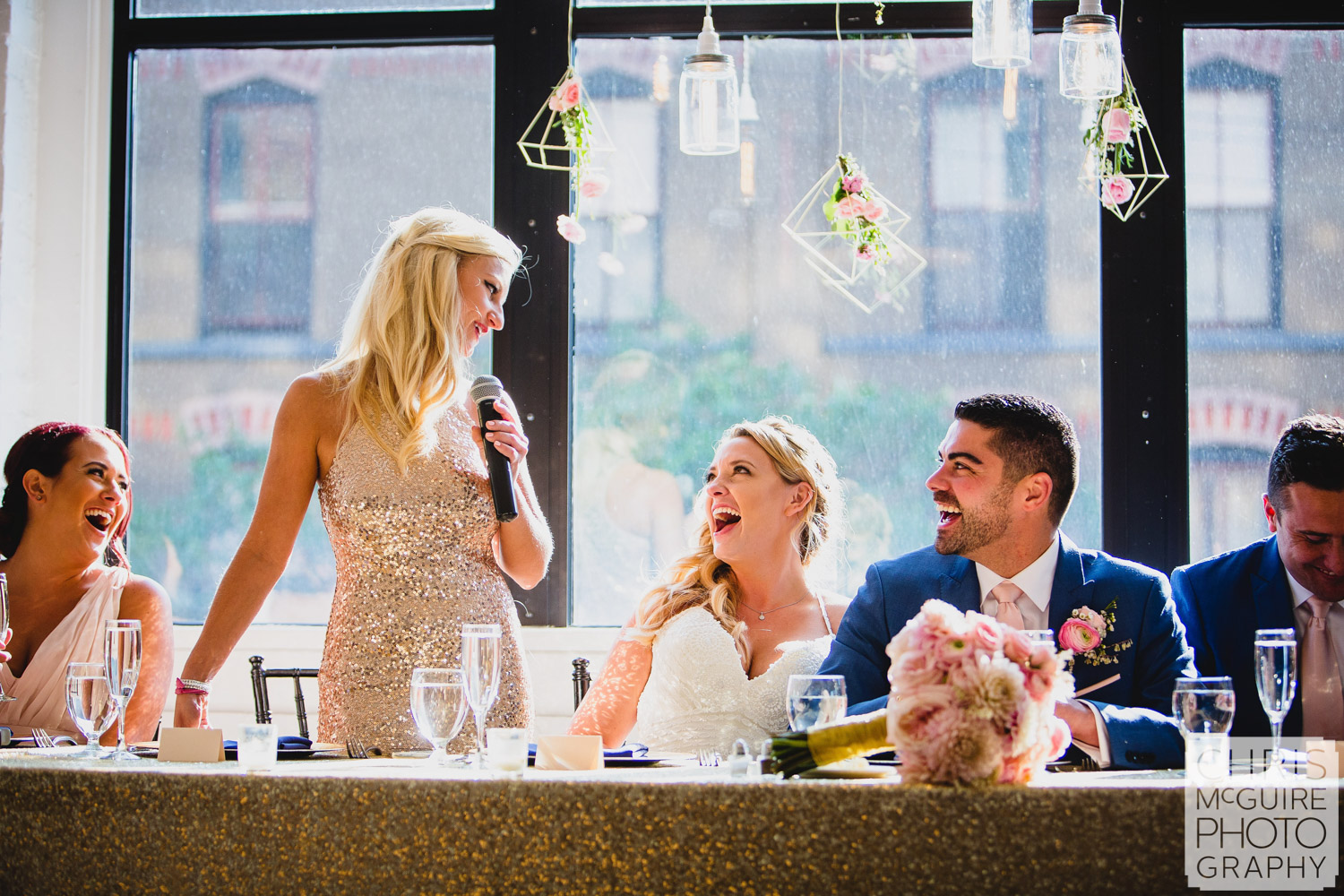 maid of honor speech bride laughing