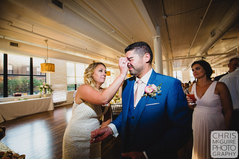 bride groom cake smash