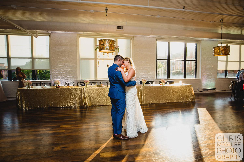 bride groom first dance at wedding reception