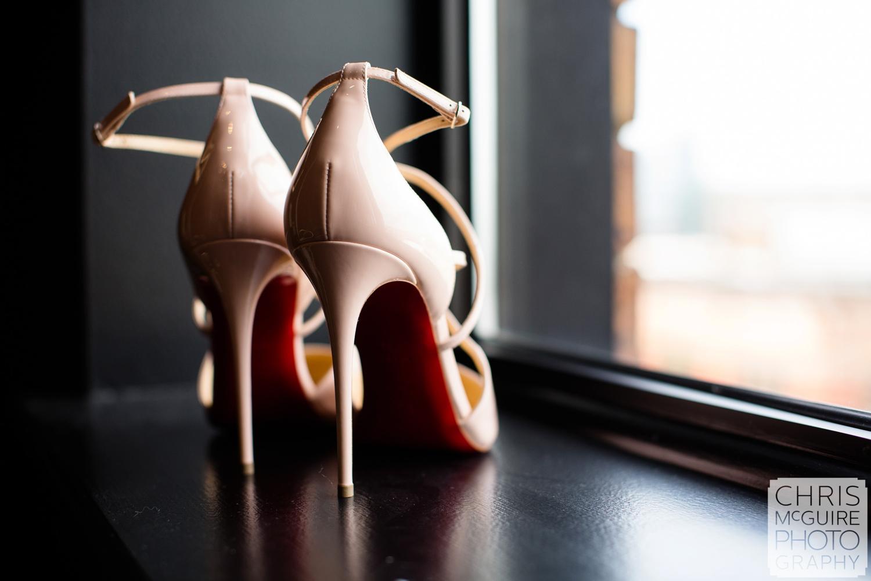 bride shoes red heels