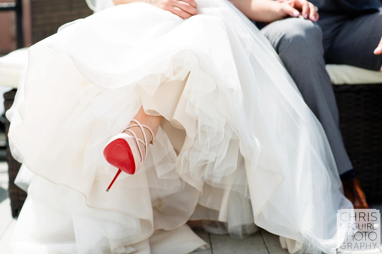 red high heel wedding shoes
