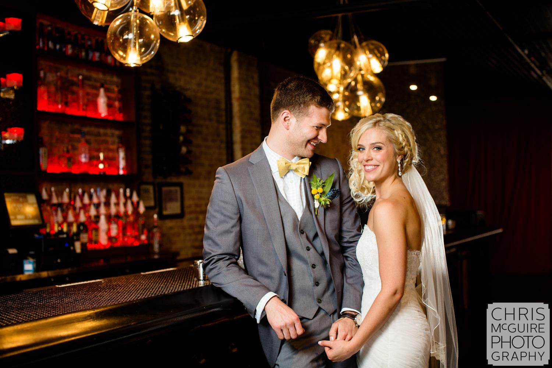 bride groom in bar