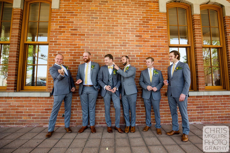groomsmen acting weird