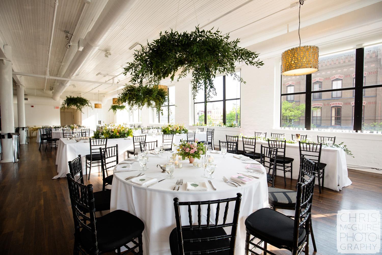loft wedding reception
