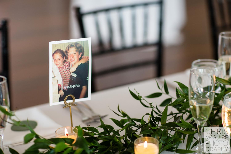wedding reception table marker