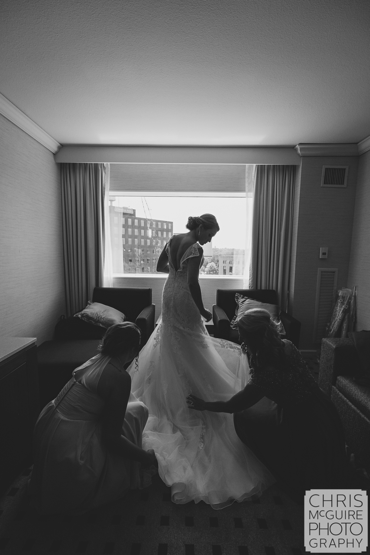 bride getting ready peoria