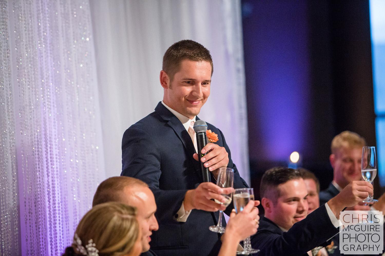 best man toast during wedding reception