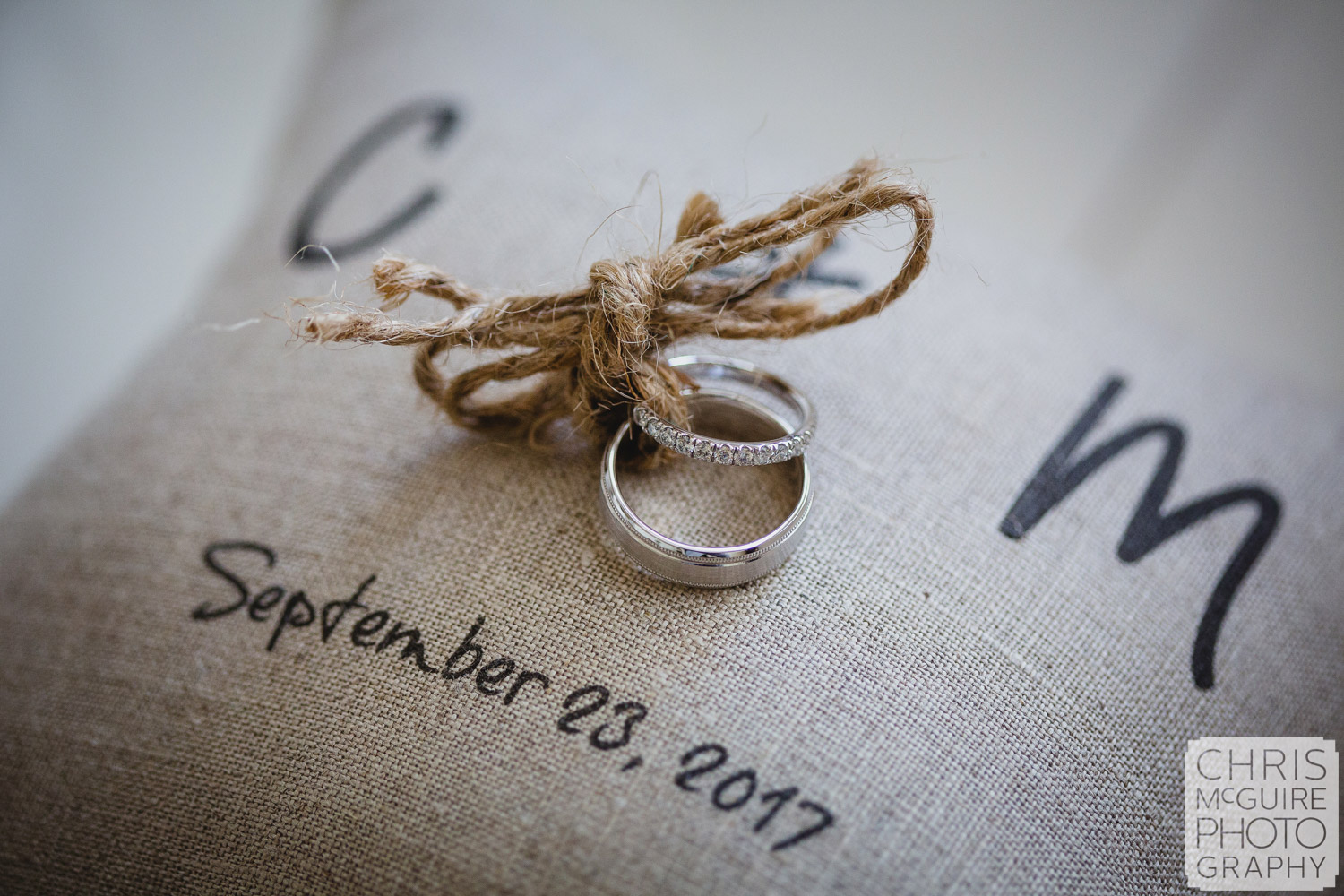 wedding rings tied to pillow midwest