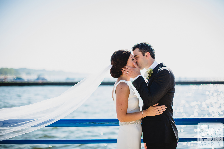 Central Illinois Wedding Photographer bride groom kiss