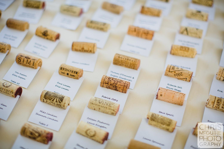 cork place cards