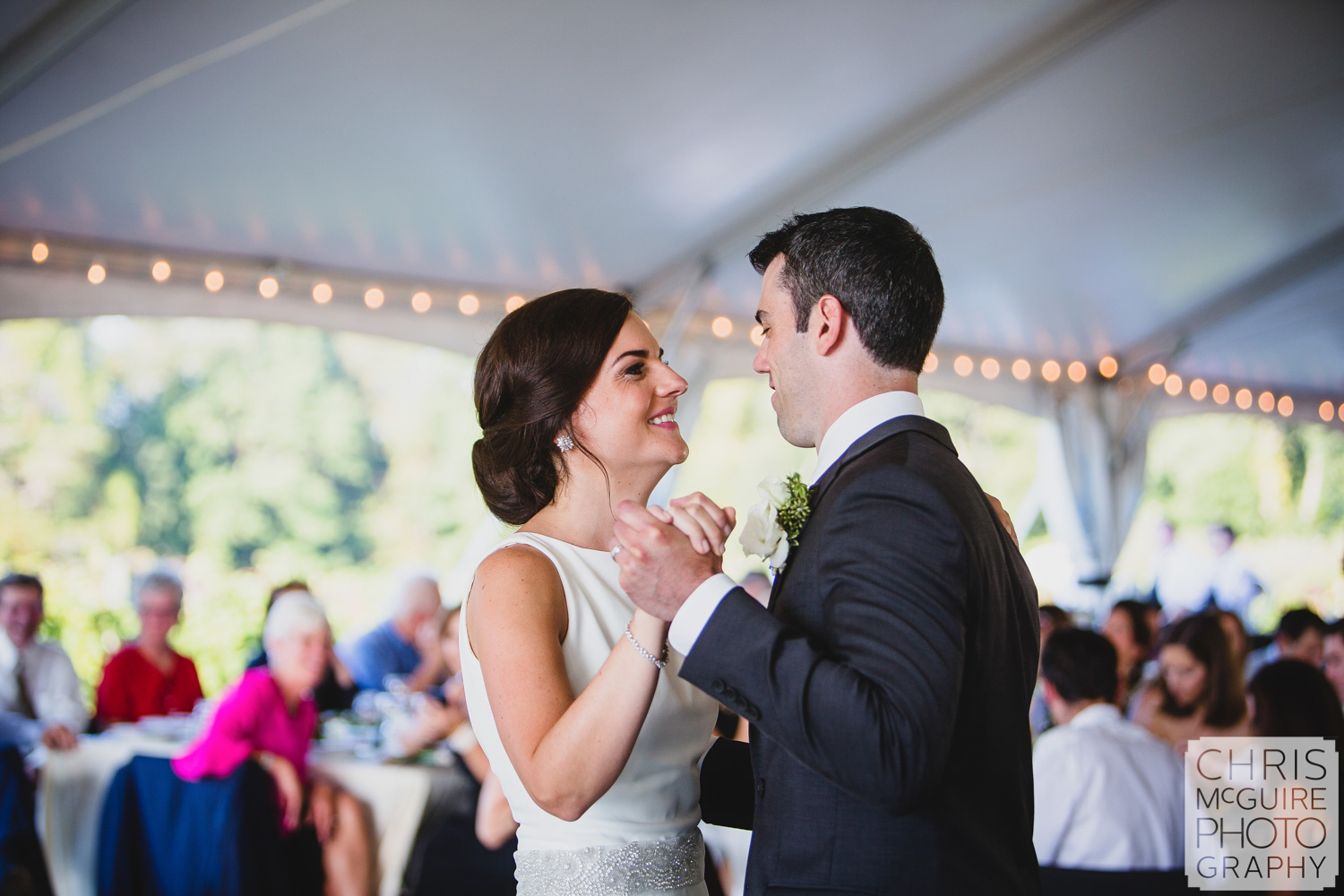 bride groom first dance at reception