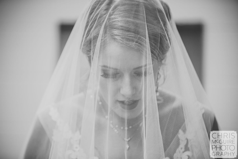 bride under veil peoria