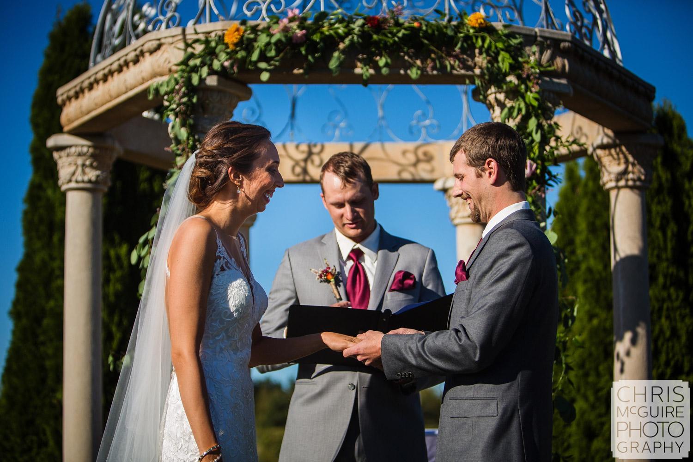 bride groom exchange rings