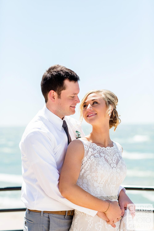 bride groom at beach