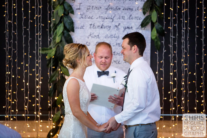 bride groom at alter