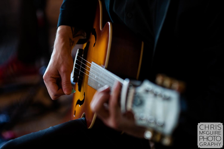 guitar player at wedding reception