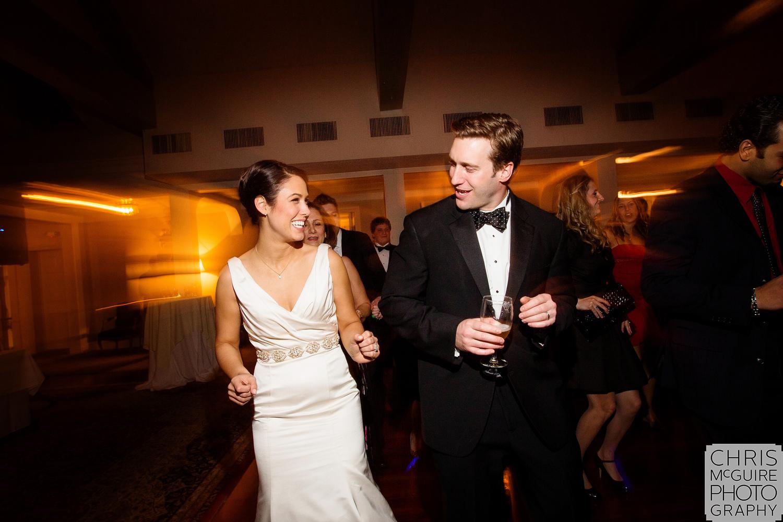 bride and groom on dancefloor at wedding