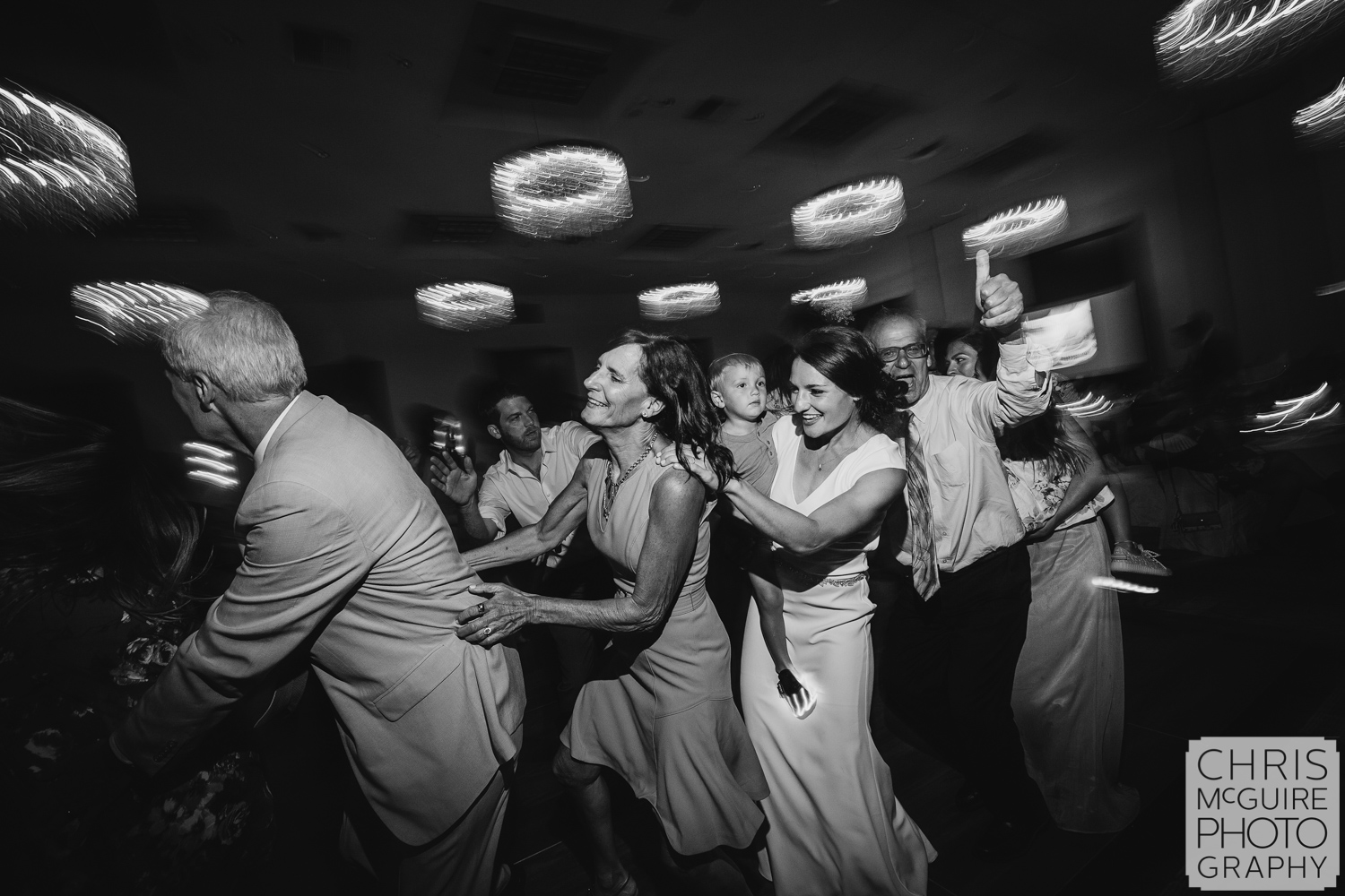 dancing at Pere Marquette ballroom wedding reception