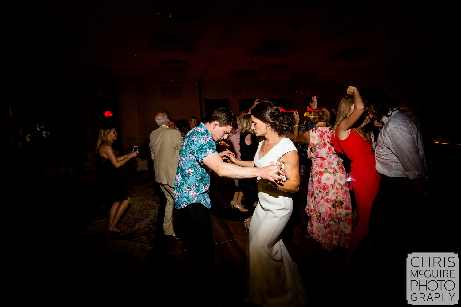 bride and groom dance at central Illinois wedding